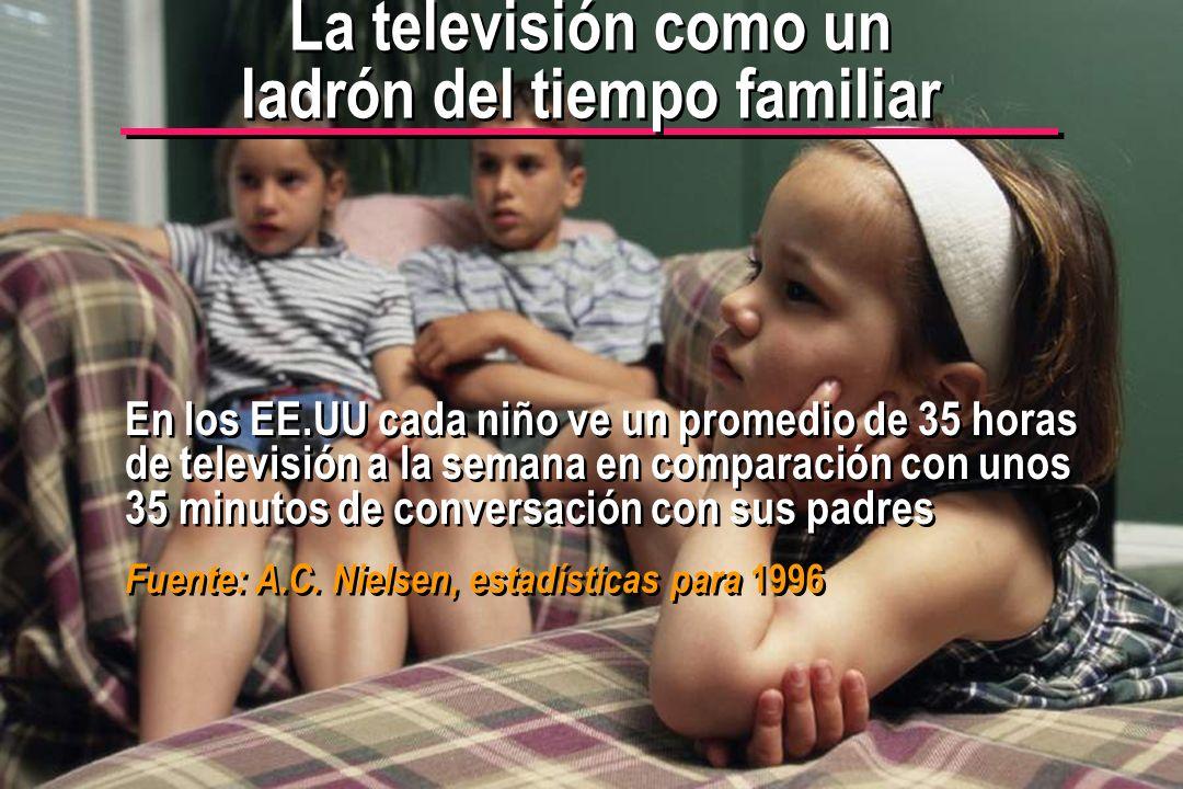 © IEF 50 PRE 1.2.1s La televisión como un ladrón del tiempo familiar En los EE.UU cada niño ve un promedio de 35 horas de televisión a la semana en co