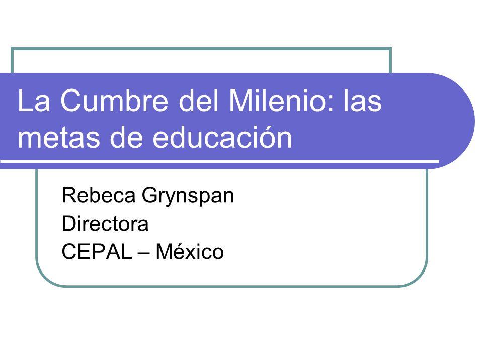 Seminario Internacional América Latina y el Caribe: Desafíos frente a los Objetivos de Desarrollo del Milenio BID-PNUD-CEPAL-BM Washington D.C.