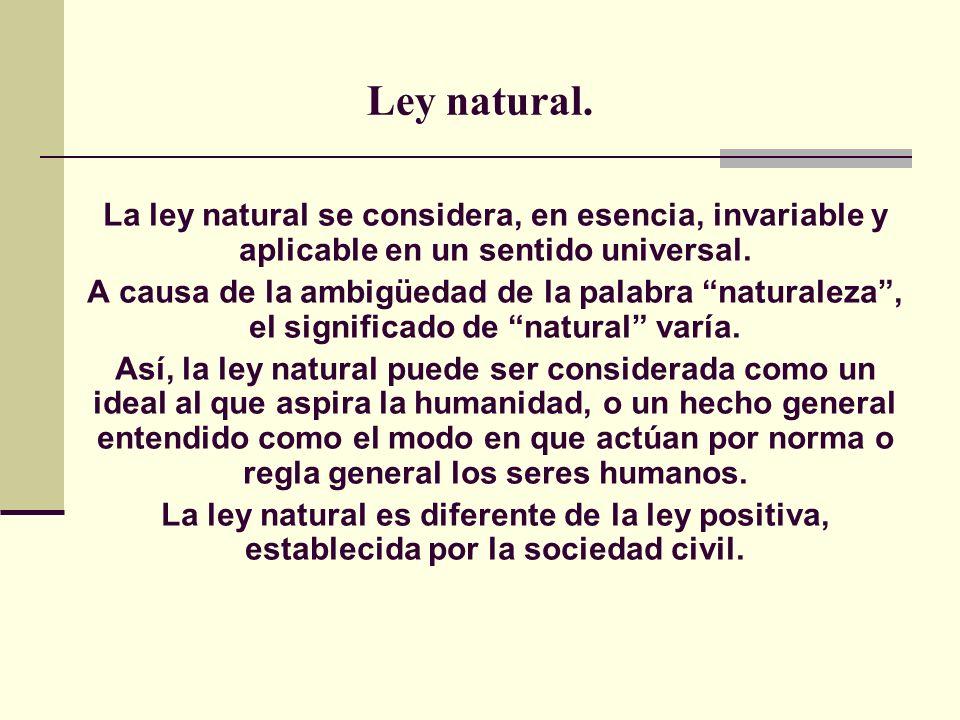 Ley natural.