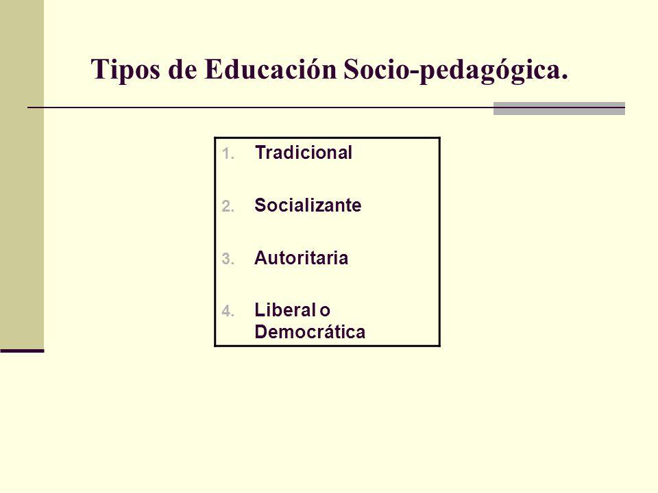 Tipos de Educación Socio-pedagógica.1. Tradicional 2.