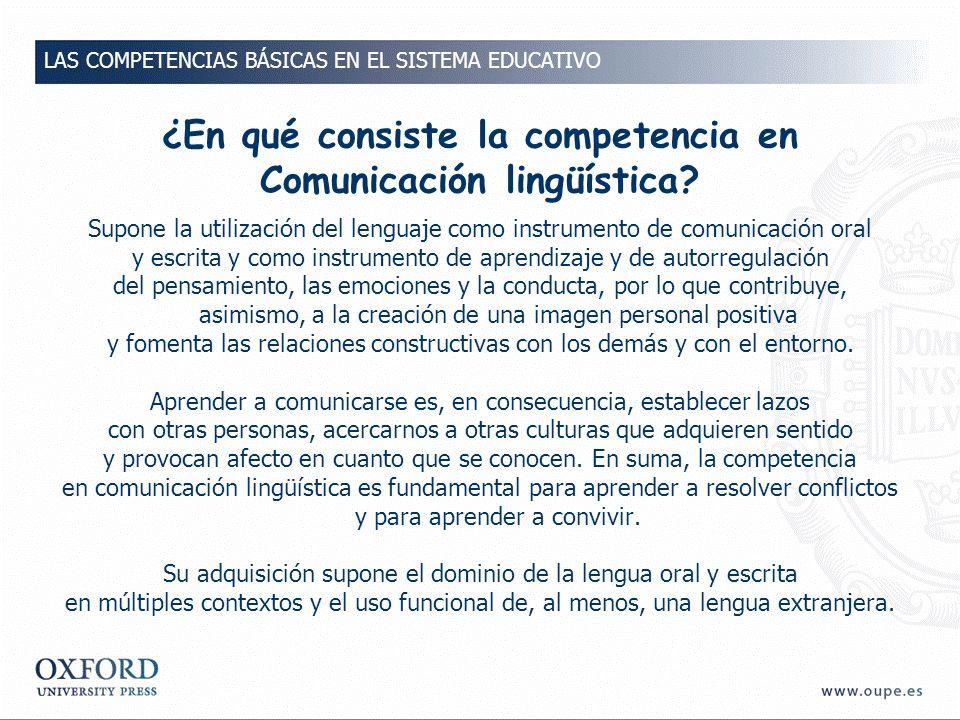 ¿En qué consiste la competencia en Comunicación lingüística.