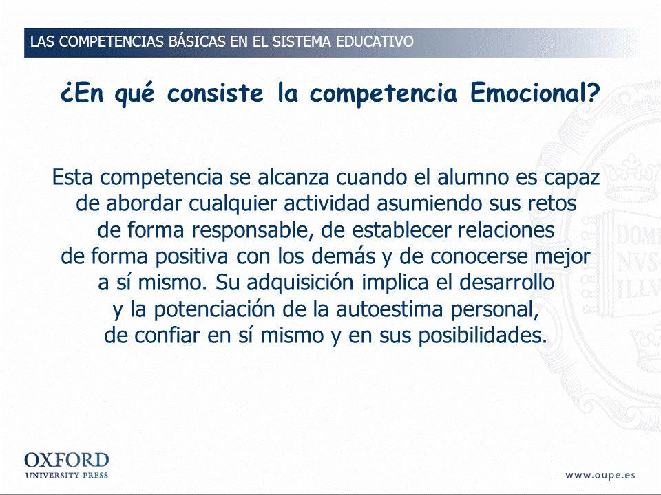 ¿En qué consiste la competencia Emocional.