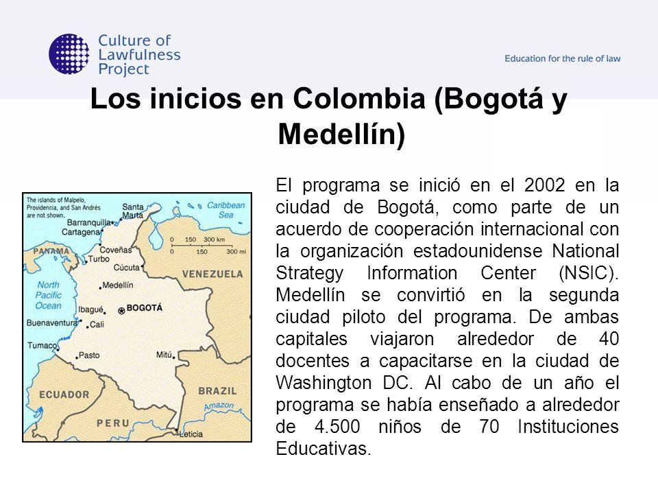 Los inicios en Colombia (Bogotá y Medellín) El programa se inició en el 2002 en la ciudad de Bogotá, como parte de un acuerdo de cooperación internaci