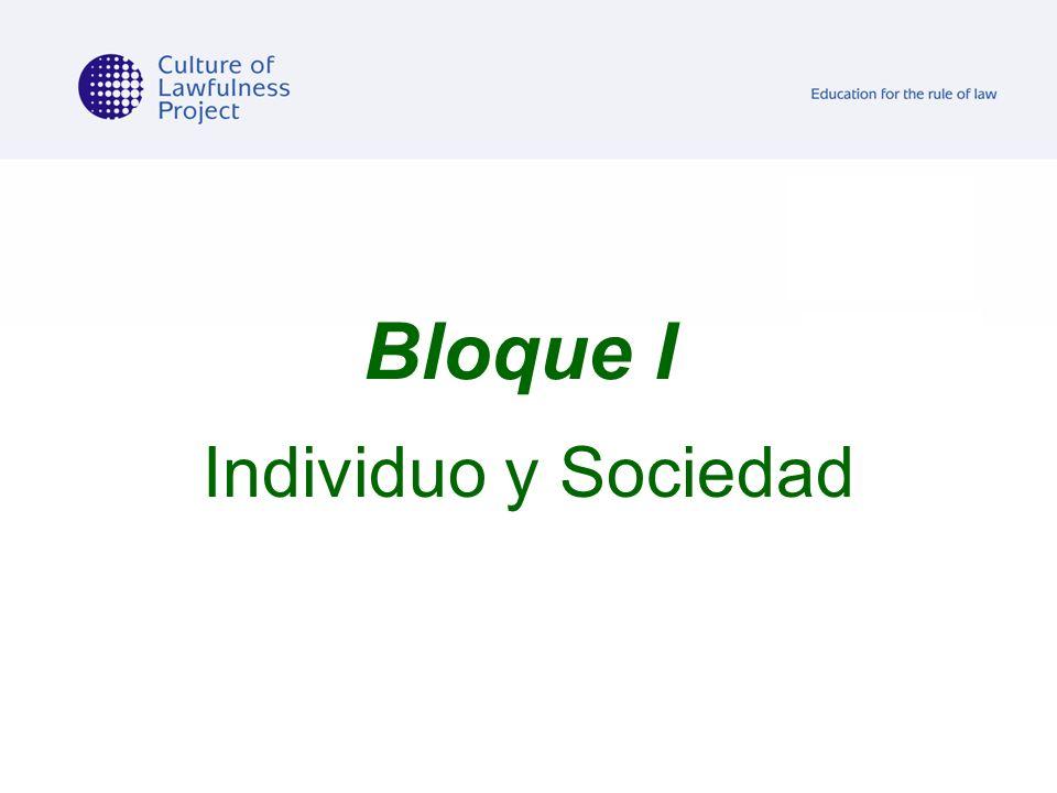 Bloque I Individuo y Sociedad