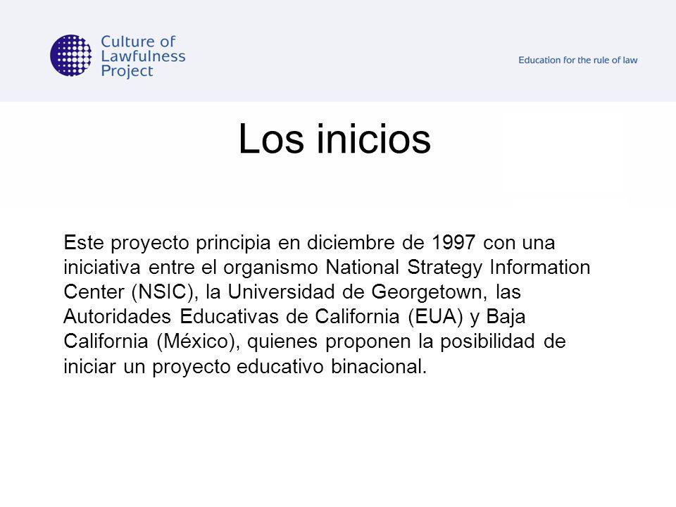 Los inicios Este proyecto principia en diciembre de 1997 con una iniciativa entre el organismo National Strategy Information Center (NSIC), la Univers