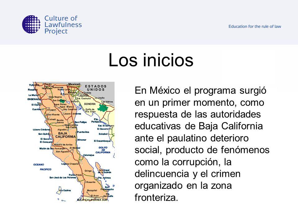 Los inicios En México el programa surgió en un primer momento, como respuesta de las autoridades educativas de Baja California ante el paulatino deter