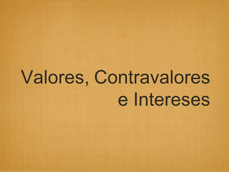 Valores, Contravalores e Intereses