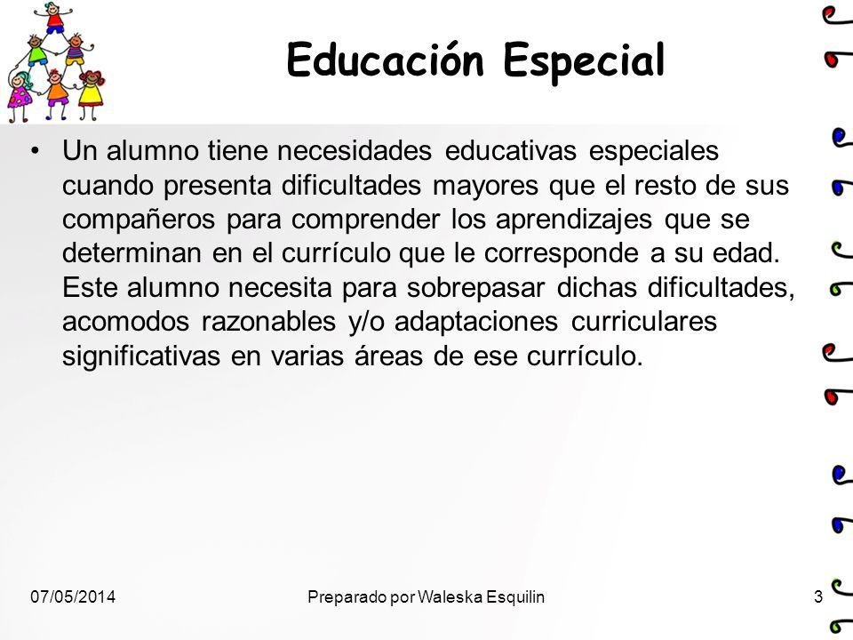 Educación Especial Un alumno tiene necesidades educativas especiales cuando presenta dificultades mayores que el resto de sus compañeros para comprend
