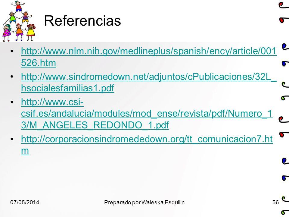 Referencias http://www.nlm.nih.gov/medlineplus/spanish/ency/article/001 526.htmhttp://www.nlm.nih.gov/medlineplus/spanish/ency/article/001 526.htm htt