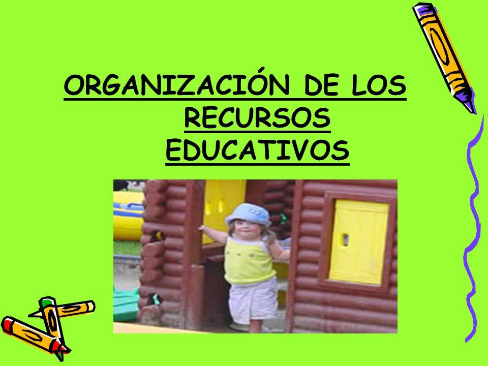ORGANIZACIÓN DE LOS RECURSOS EDUCATIVOS