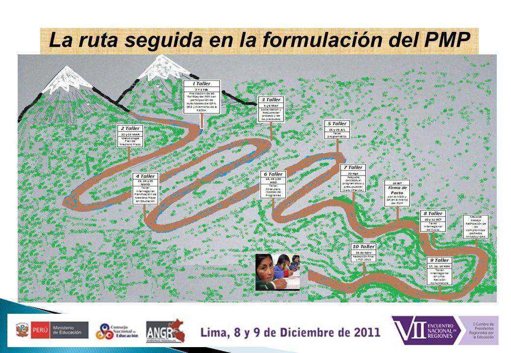La ruta seguida en la formulación del PMP