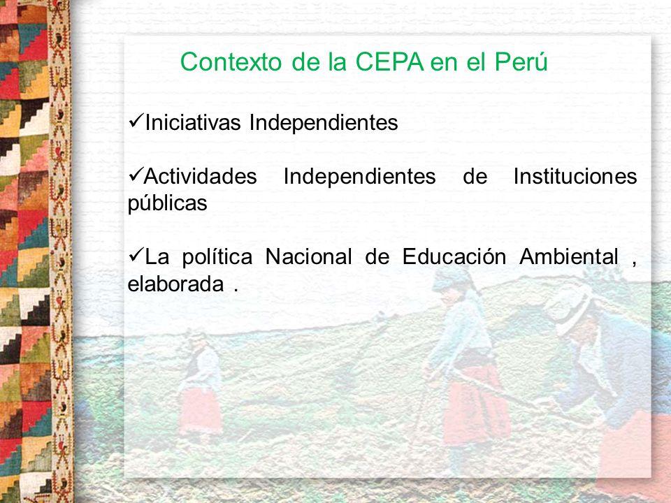 5.- Elaborar paquetes de herramientas para el desarrollo y aplicación de estrategias de CEPA Hay un esfuerzo de la UICN, el cual reconocemos que es muy valioso para el país ya que facilita el extender los conceptos de la CEPA a todo nivel.