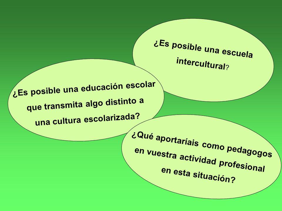 ¿Es posible una escuela intercultural .
