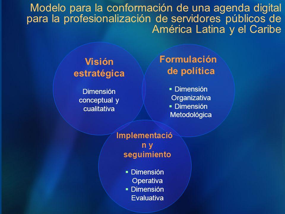 Modelo para la conformación de una agenda digital para la profesionalización de servidores públicos de América Latina y el Caribe Visión estratégica D