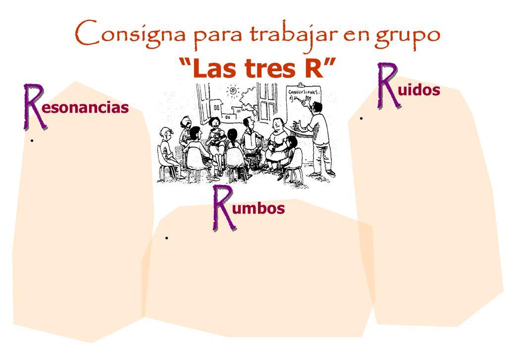Consigna para trabajar en grupo Las tres R esonancias uidos umbos