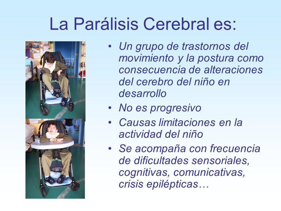 La Parálisis Cerebral es: Un grupo de trastornos del movimiento y la postura como consecuencia de alteraciones del cerebro del niño en desarrollo No e