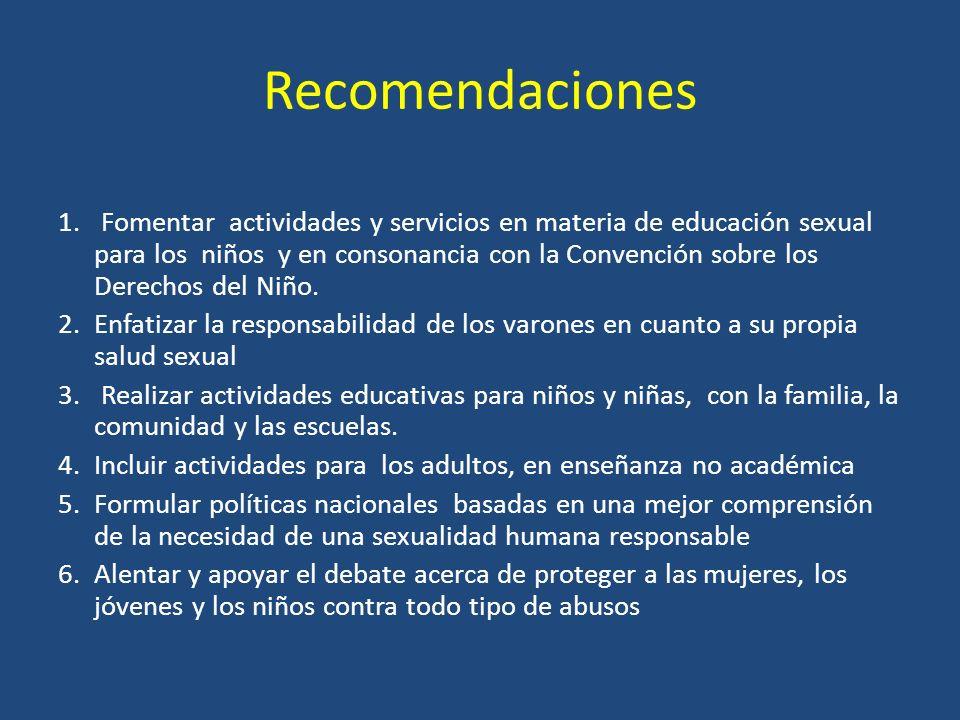 Recomendaciones 1.