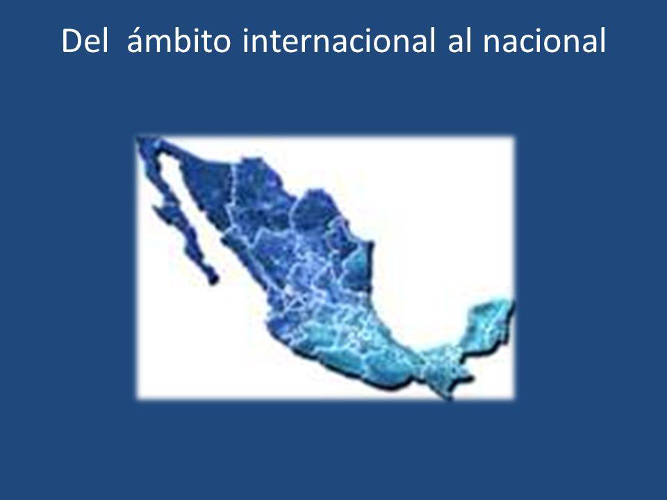 Del ámbito internacional al nacional