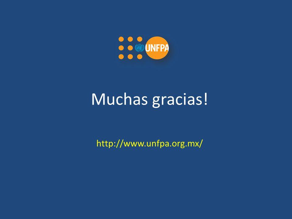 Muchas gracias! http://www.unfpa.org.mx/