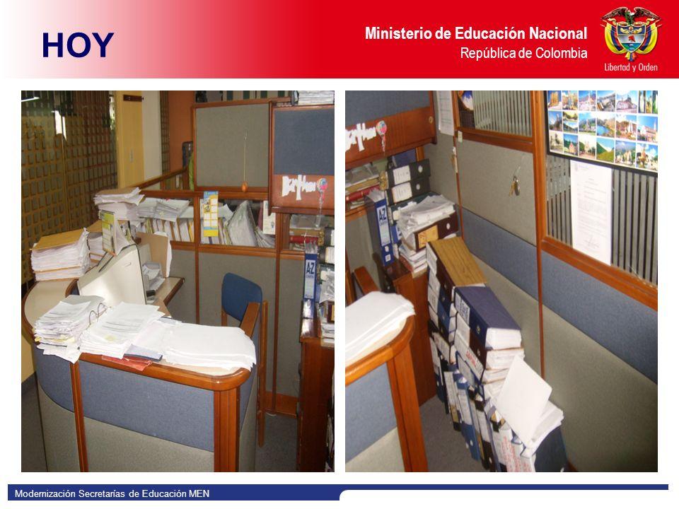Modernización Secretarías de Educación MEN Ministerio de Educación Nacional República de Colombia HOY