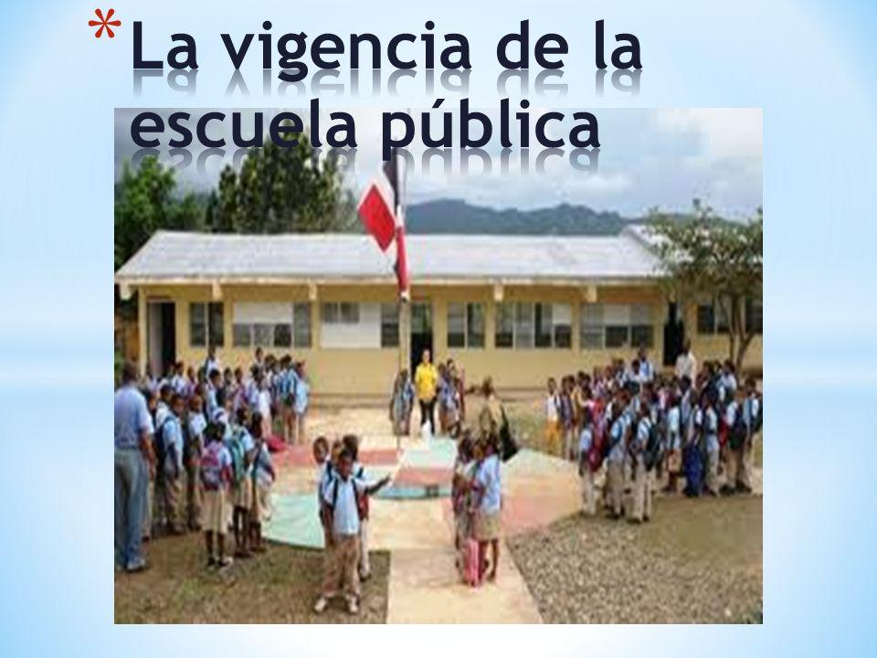 * La necesidad de equidad en la calidad, dará a la educación pública, una nueva vigencia que tendrá que ser mucho mas eficaz y exigente sobre si misma.