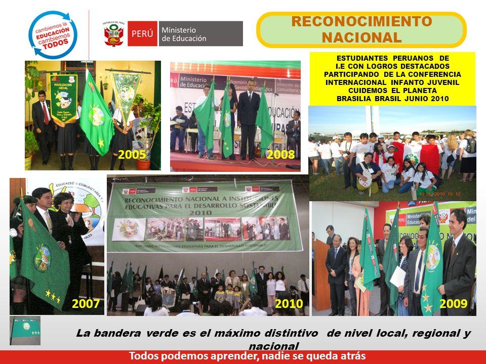 RECONOCIMIENTO NACIONAL 20052008 20072009 ESTUDIANTES PERUANOS DE I.E CON LOGROS DESTACADOS PARTICIPANDO DE LA CONFERENCIA INTERNACIONAL INFANTO JUVEN