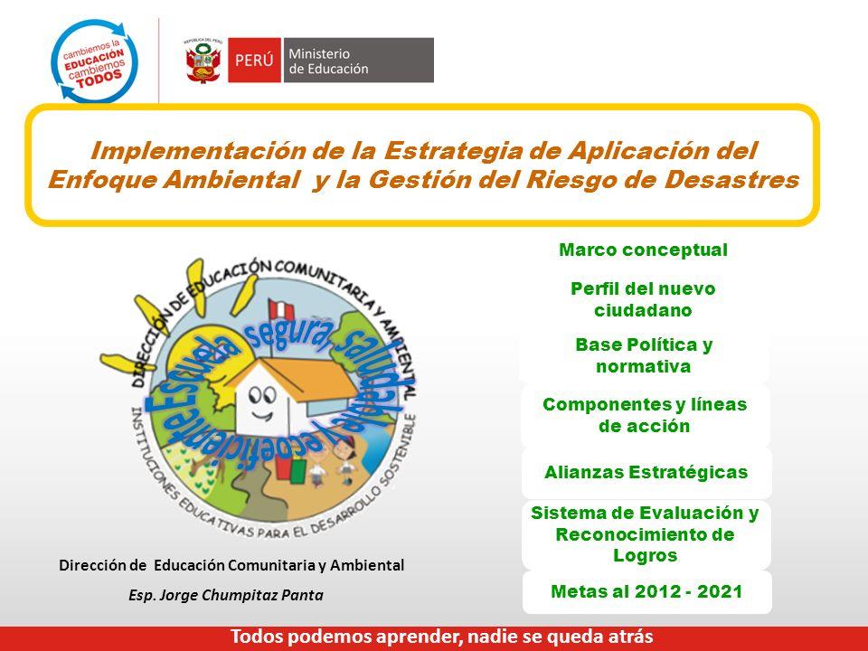 Implementación de la Estrategia de Aplicación del Enfoque Ambiental y la Gestión del Riesgo de Desastres Marco conceptual Perfil del nuevo ciudadano B