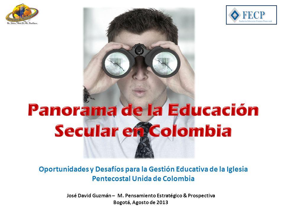 Oportunidades y Desafíos para la Gestión Educativa de la Iglesia Pentecostal Unida de Colombia José David Guzmán – M. Pensamiento Estratégico & Prospe