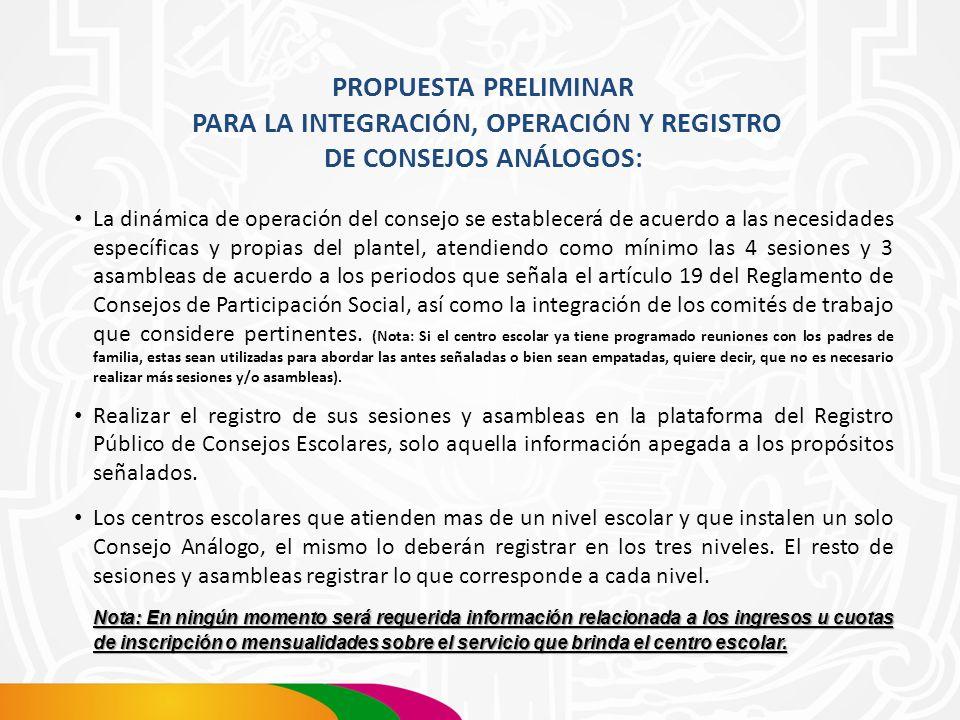 CONSEJOS ANÁLOGOS PERIODO DE LAS SESIONES Y ASAMBLEAS Y SU REGISTRO PÚBLICO (REPUCE) 1er.
