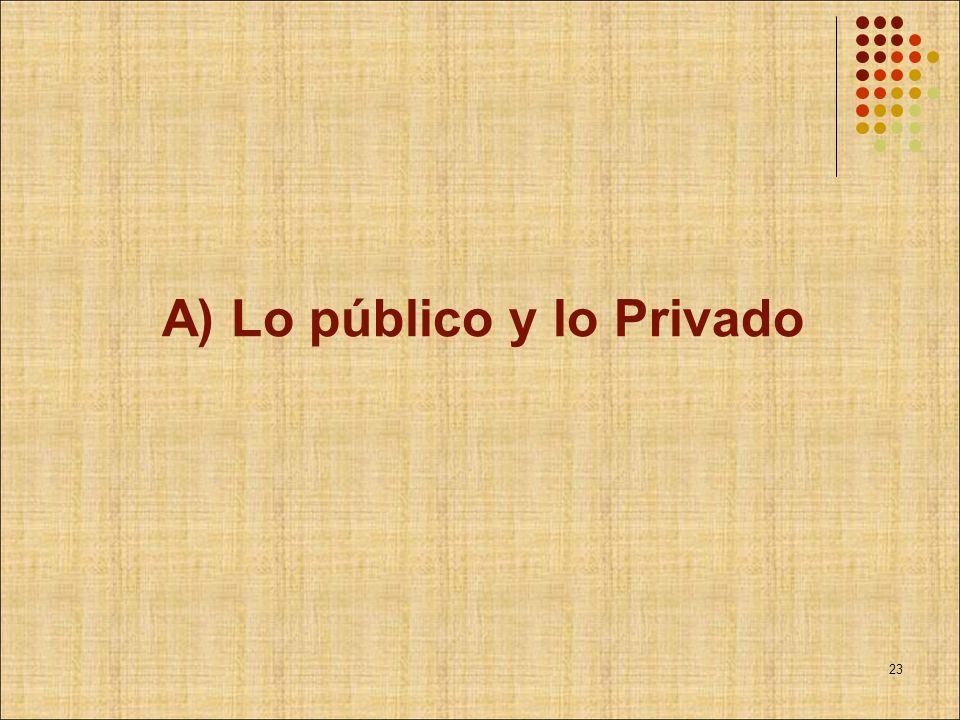 A) Lo público y lo Privado 23