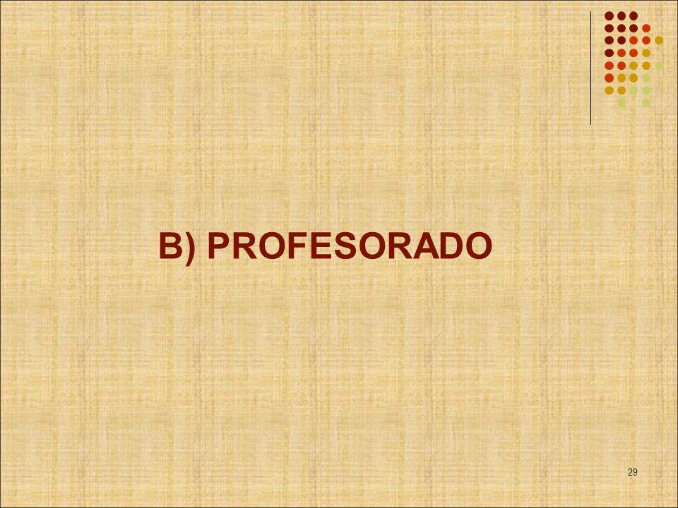 B) PROFESORADO 29