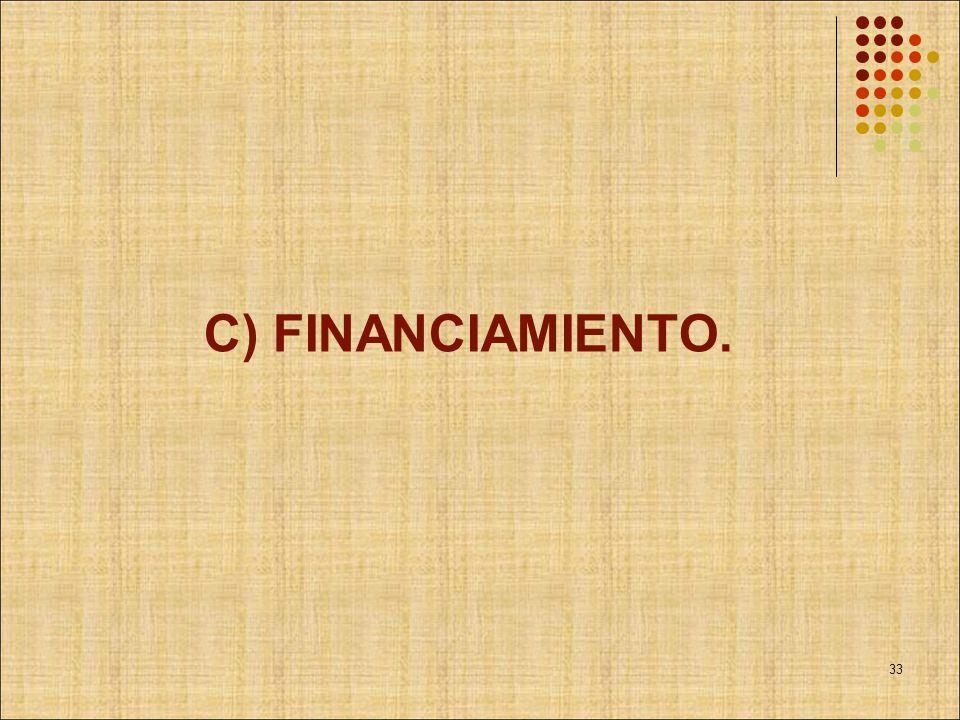 C) FINANCIAMIENTO. 33