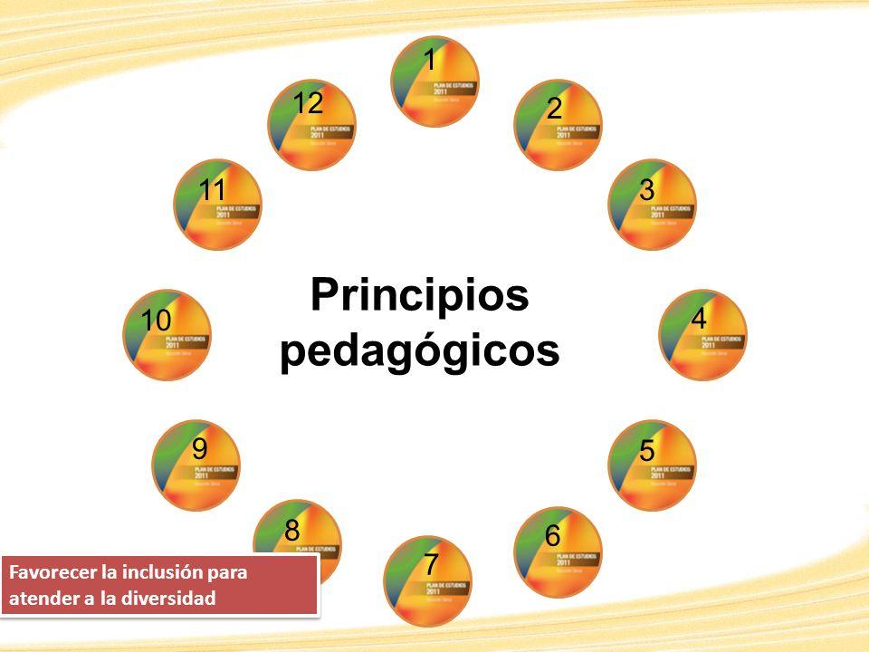 2 1 12 7 2 10 9 8 3 4 11 5 6 Principios pedagógicos 8 Favorecer la inclusión para atender a la diversidad