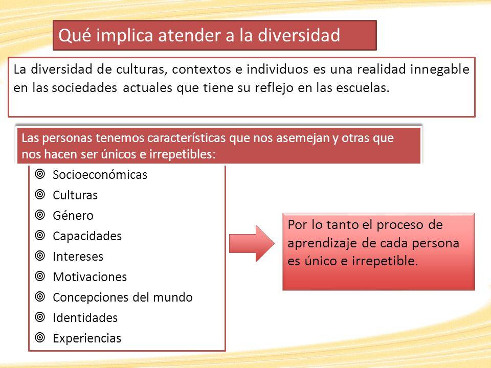 Educación Inclusiva Proceso orientado a responder a la diversidad de necesidades de todos los alumnos incrementando su participación en el aprendizaje, la cultura y las comunidades; reduciendo y eliminando la exclusión desde la educación (UNESCO, 2009).