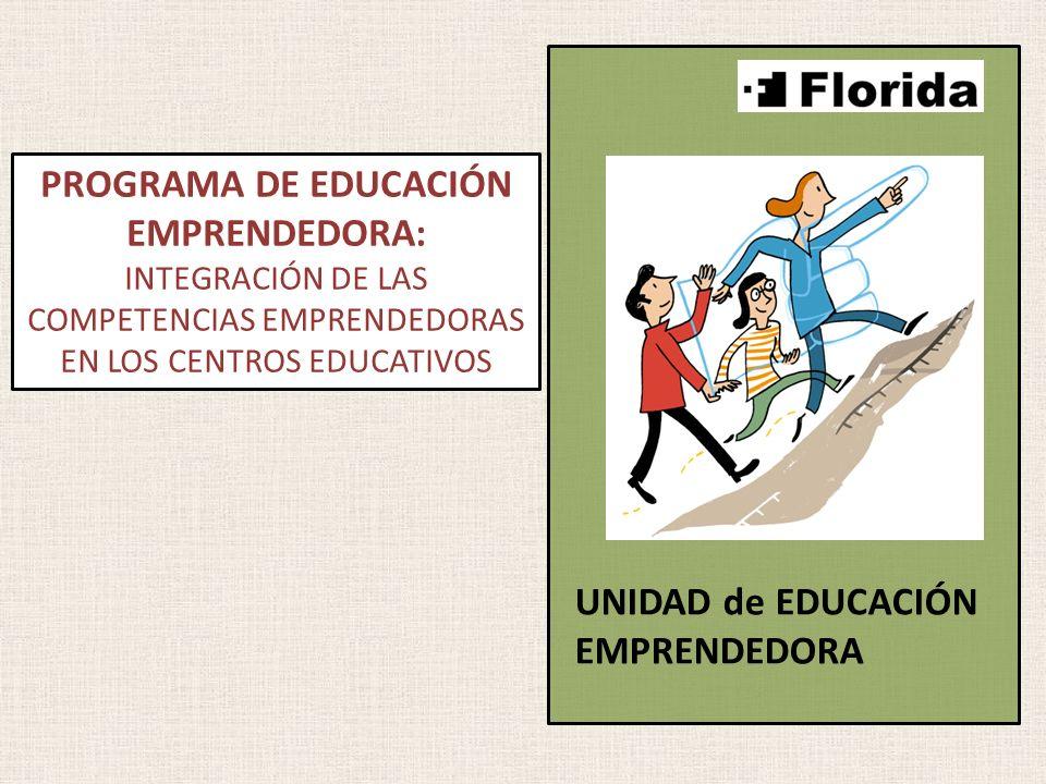 PROGRAMA DE EDUCACIÓN EMPRENDEDORA: INTEGRACIÓN DE LAS COMPETENCIAS EMPRENDEDORAS EN LOS CENTROS EDUCATIVOS UNIDAD de EDUCACIÓN EMPRENDEDORA