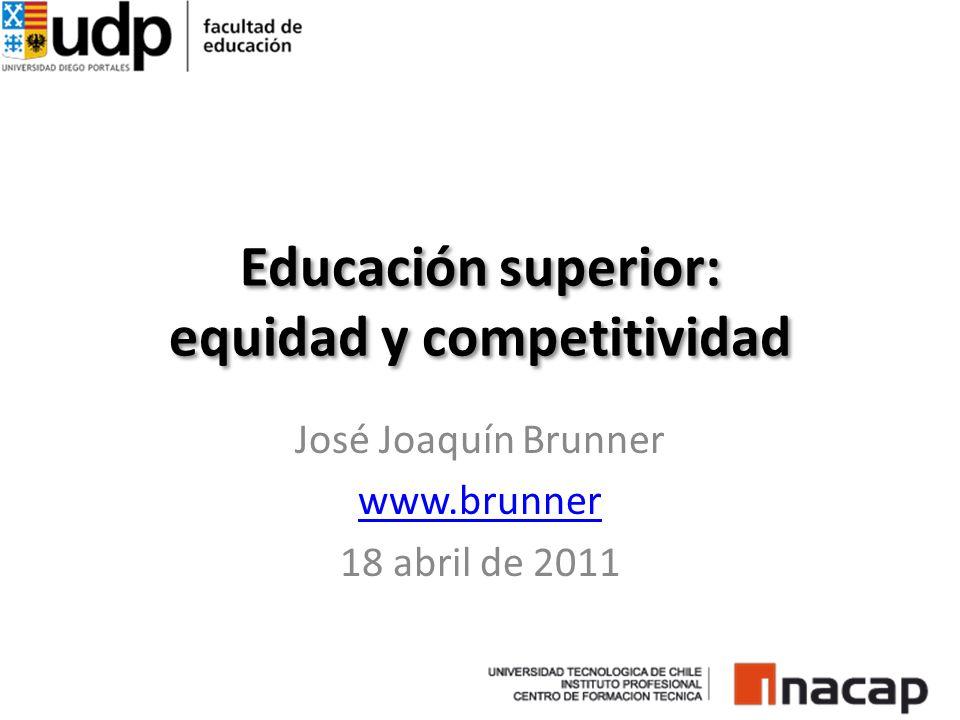 Educación superior: equidad y competitividad José Joaquín Brunner www.brunner 18 abril de 2011