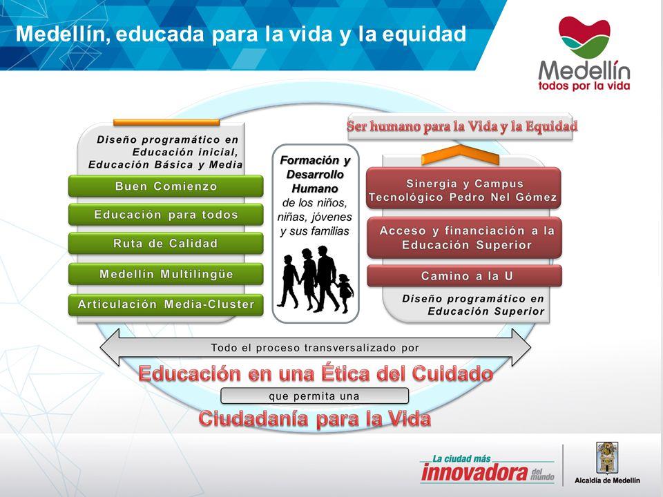 Medellín, educada para la vida y la equidad