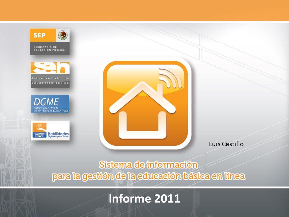 Actividades de cierre 2011 Implementación Retos derivados de la versión 1.5 (actualización) Finalización de la carga de información.