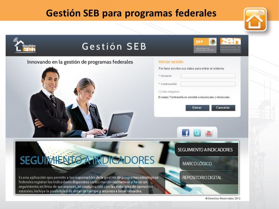 Gestión SEB para programas federales