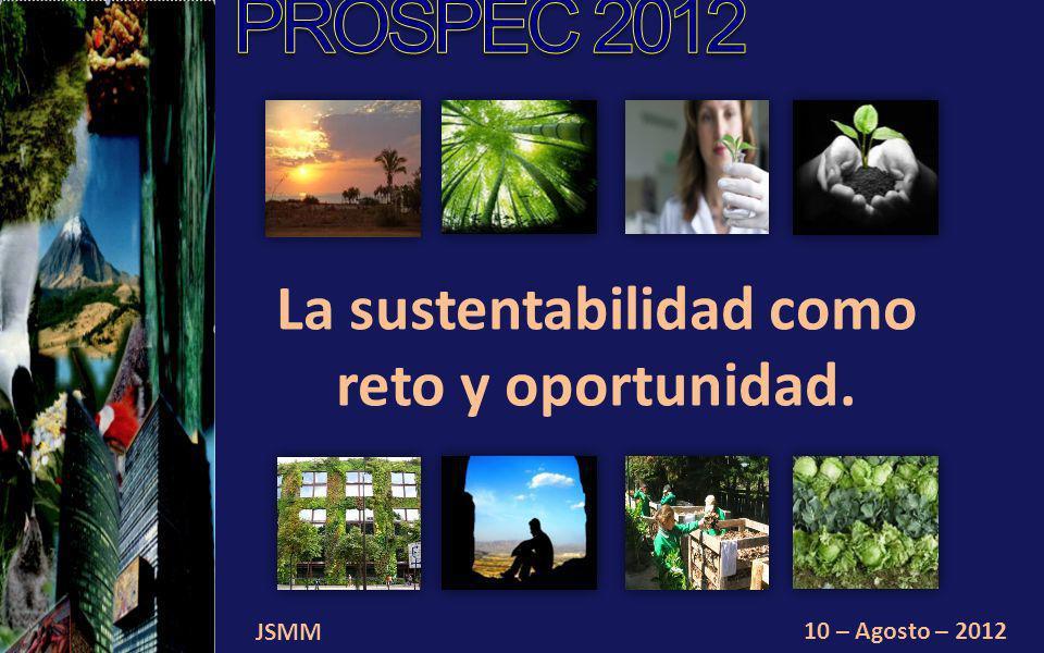 JSMM 10 – Agosto – 2012 La sustentabilidad como reto y oportunidad.