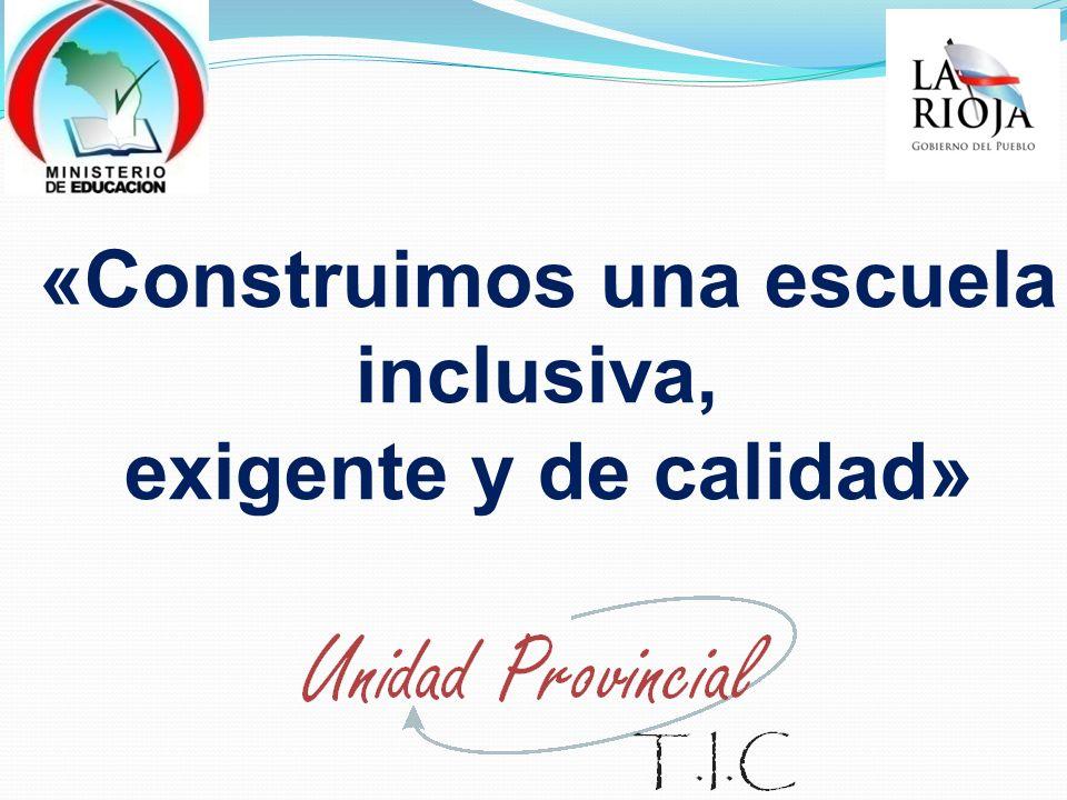 Conectar Igualdad Joaquín V González -Secundaria Políticas convergentes que hacen foco en la utilización pedagógica del recurso tecnológico en las aulas, como herramienta para la renovación de las prácticas docentes y las dinámicas institucionales.