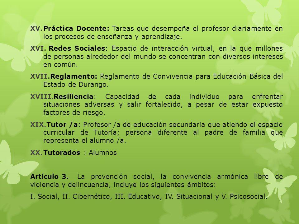 VII.Comisión para la convivencia: Grupo de personas encargadas en atender lo relacionado con la convivencia en la escuela.