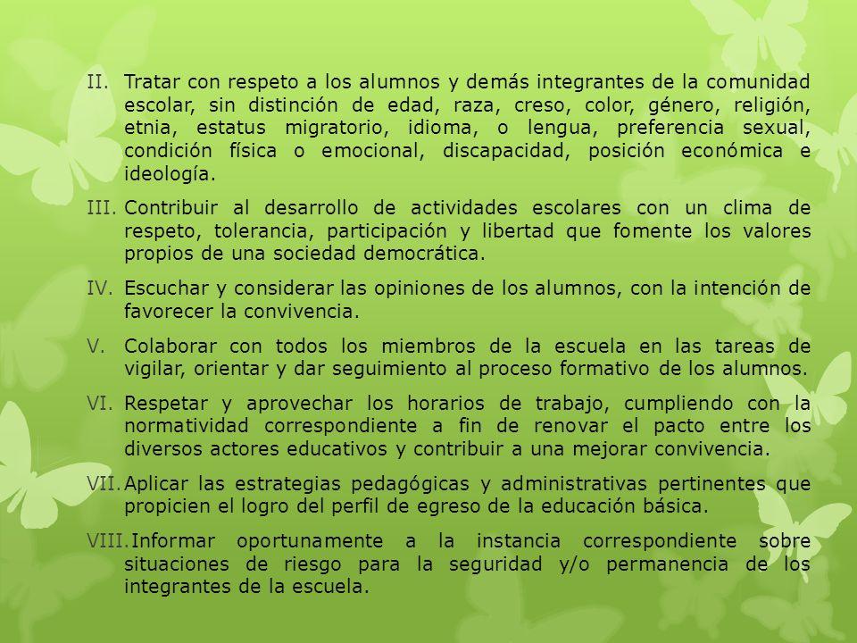 CAPÍTULO III DEL PERSONAL DE EDUCACION BÁSICA Artículo 9.
