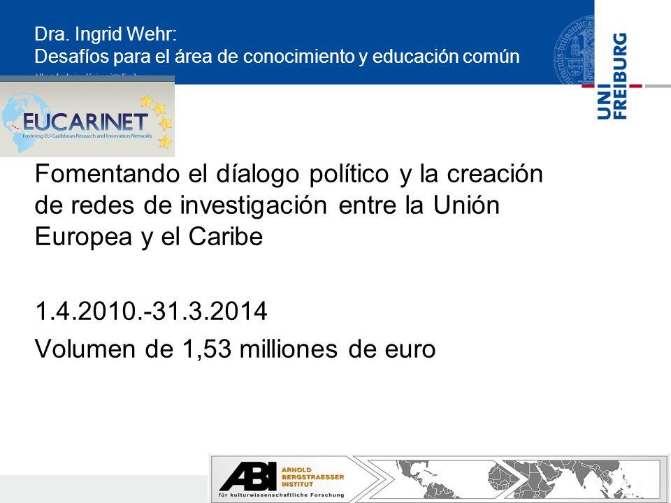 Dra. Ingrid Wehr: Desafíos para el área de conocimiento y educación común Fomentando el díalogo político y la creación de redes de investigación entre