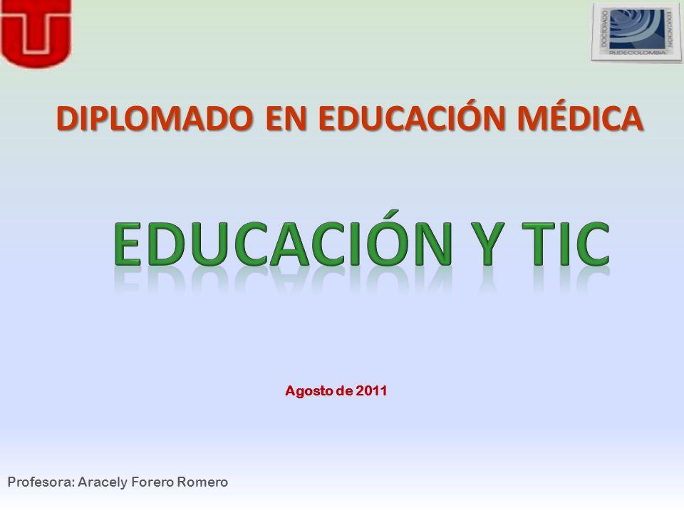 Profesora: Aracely Forero Romero DIPLOMADO EN EDUCACIÓN MÉDICA Agosto de 2011