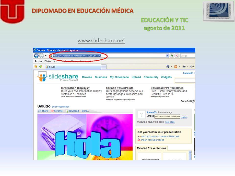 DIPLOMADO EN EDUCACIÓN MÉDICA www.slideshare.net