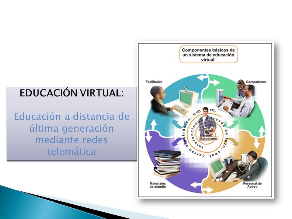 EDUCACIÓN VIRTUAL: Educación a distancia de última generación mediante redes telemática EDUCACIÓN VIRTUAL: Educación a distancia de última generación