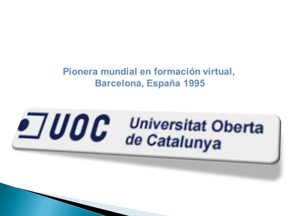 Pionera mundial en formación virtual, Barcelona, España 1995
