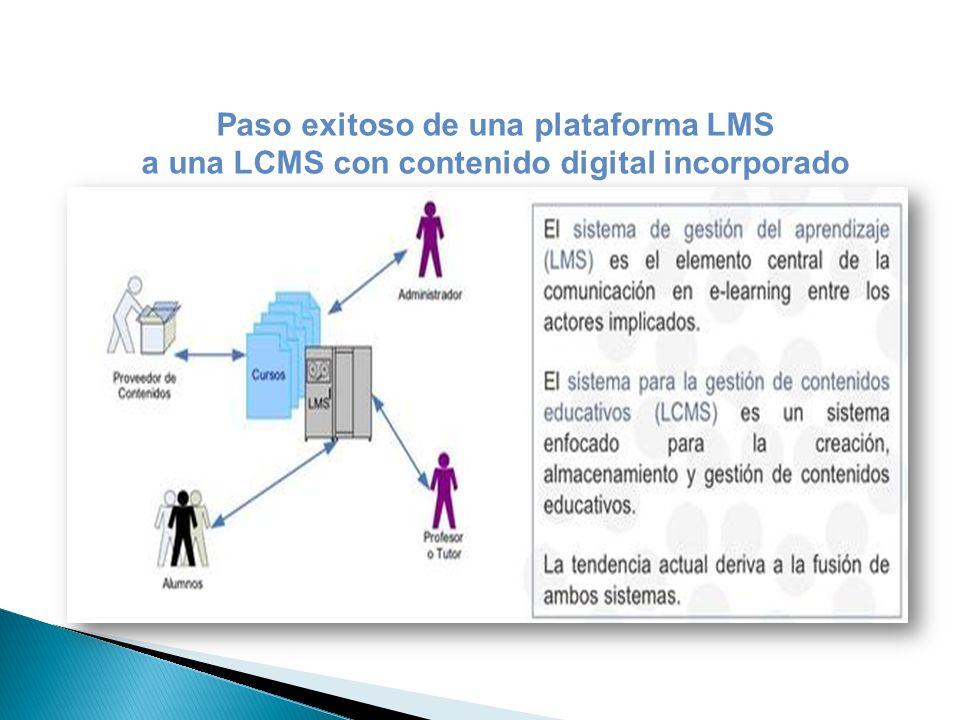 Paso exitoso de una plataforma LMS a una LCMS con contenido digital incorporado