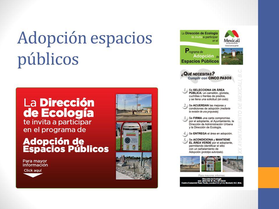 Adopción espacios públicos